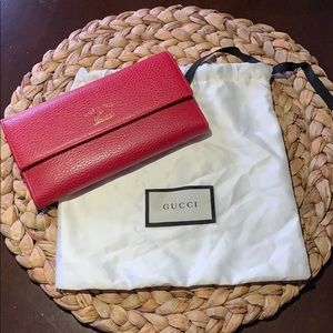 46d3423f53e589 Authentic GUCCI Pebbled Leather Wallet